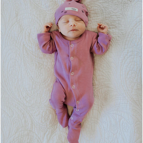L'oved Baby Organic Grape Footed Overall-Jack & Willow