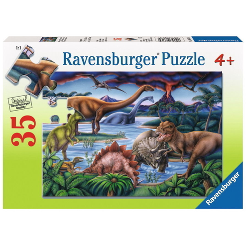 Ravensburger Dinosaur Playground Puzzle 35pc-Jack & Willow