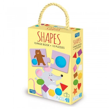 Sassi Puzzle & Book - Shapes