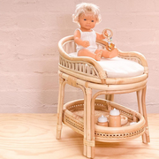 Tiny Harlow Rattan Dolls Change Table