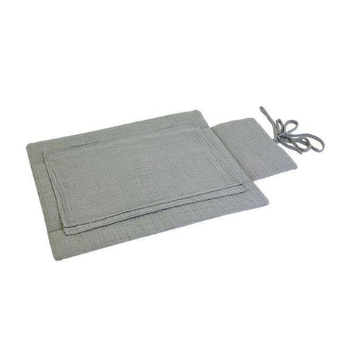 Numero 74 Travel Changing Pad - Silver Grey-Jack & Willow