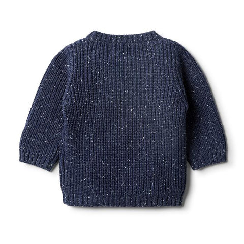 Wilson & Frenchy Knitted Spot Jumper - Twilight Blue
