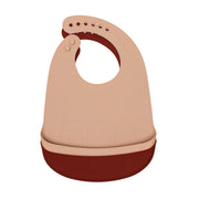 We Might Be Tiny Catchie Bibs - Rust & Beige