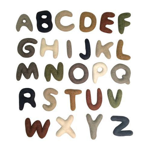 Papoose Felt Alphabet Set - Uppercase 7cm-Jack & Willow