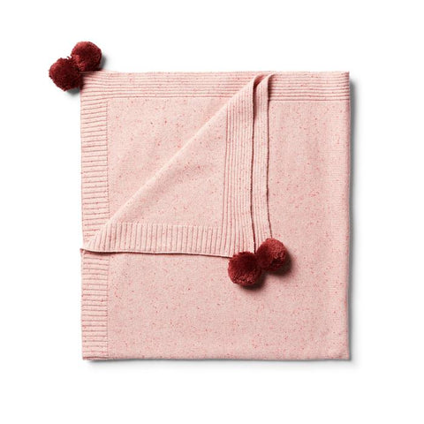 Wilson & Frenchy Chilli Fleck Knitted Blanket