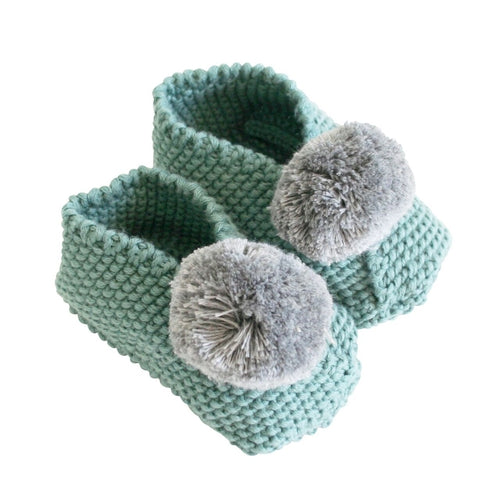 Alimrose Pom Pom Slippers - Sage & Grey-Jack & Willow