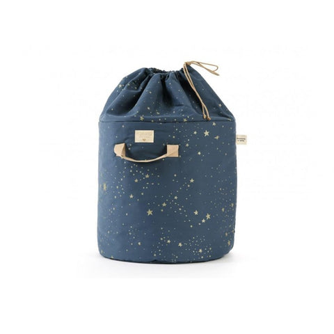 Nobodinoz Bamboo Toy Bag - Night Blue / Gold Stellar-Jack & Willow