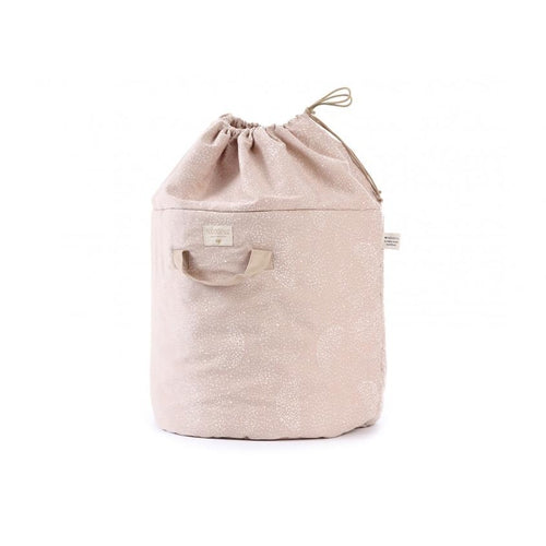 Nobodinoz Bamboo Toy Bag - Misty Pink / White Bubble-Jack & Willow
