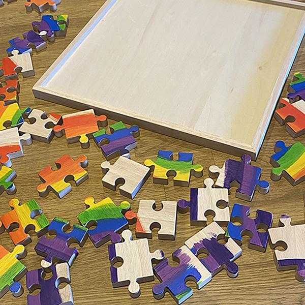 Papoose Bright Rainbow Puzzle - 25 Pcs