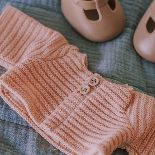 Olli Ella Dinkum Doll Cardigan - Rose-Jack & Willow