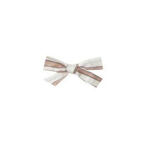 Rylee & Cru Bow with Clip - Truffle Stripe-Jack & Willow