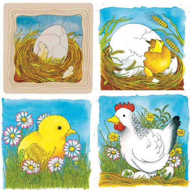 Goki Chicken Egg Layer Puzzle