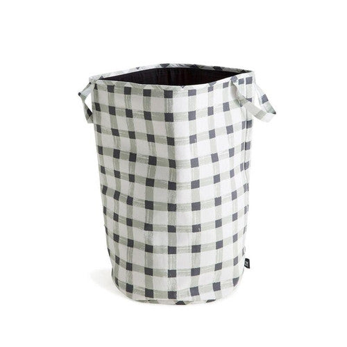 Sack Me! Grey Gingham Storage Bag