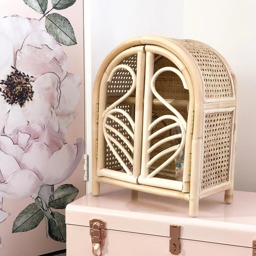 Tiny Harlow Rattan Dolls Wardrobe-Jack & Willow