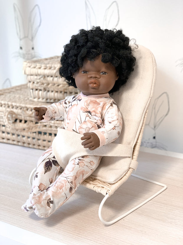 Tiny Harlow Rattan Doll's Bouncer