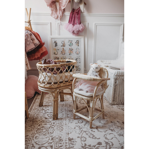 Tiny Harlow Rattan Dolls Bassinet-Jack & Willow