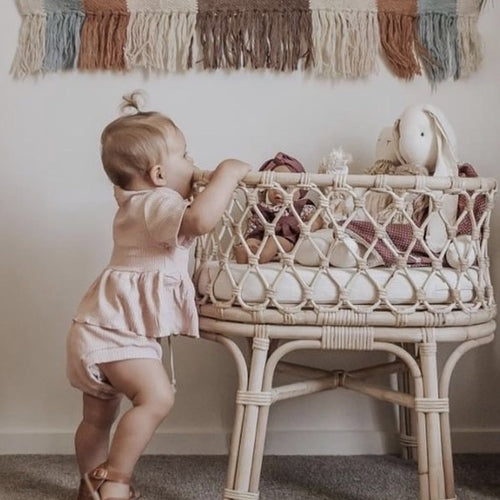Tiny Harlow Rattan Dolls Bassinet (LATE SEPTEMBER PRE-ORDER)-Jack & Willow