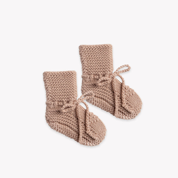 Quincy Mae Knit Booties - Petal