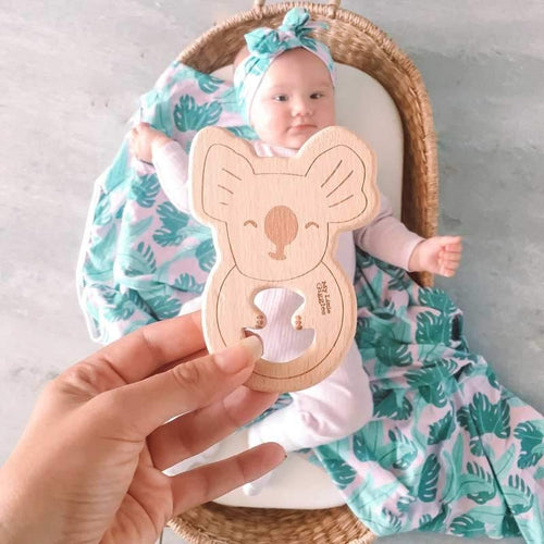 My Little Giggles Wooden Koko Koala Teether (EARLY FEBRUARY PRE-ORDER)-Jack & Willow