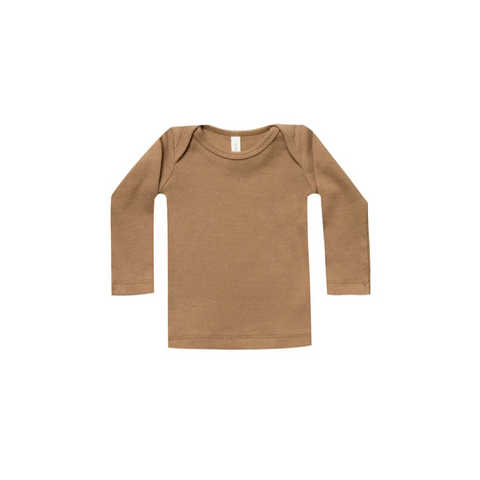 Quincy Mae Ribbed Long Sleeve Tee - Copper