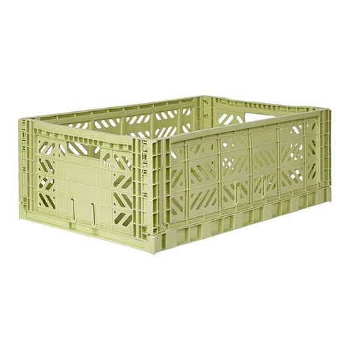 Ay-Kasa Maxi Storage Crate - Lime Cream-Jack & Willow