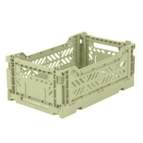 Ay-Kasa Mini Storage Crate - Lime Cream-Jack & Willow