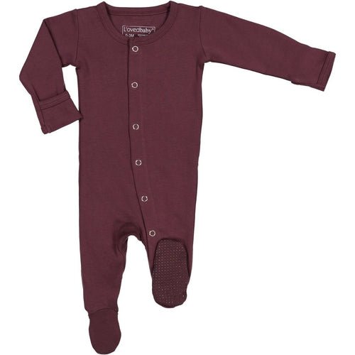 L'oved Baby Footed Overall Growsuit - Eggplant-Jack & Willow