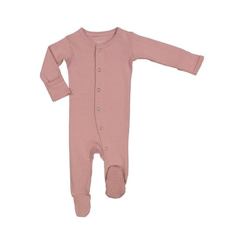 L'oved Baby Footed Overall Growsuit - Mauve-Jack & Willow
