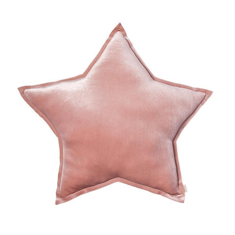 Numero 74 Star Cushion Velvet Dusty Pink - Medium (45cm)-Jack & Willow