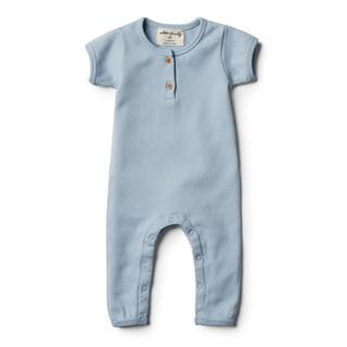 Wilson & Frenchy Rib Growsuit - Dusty Blue-Jack & Willow