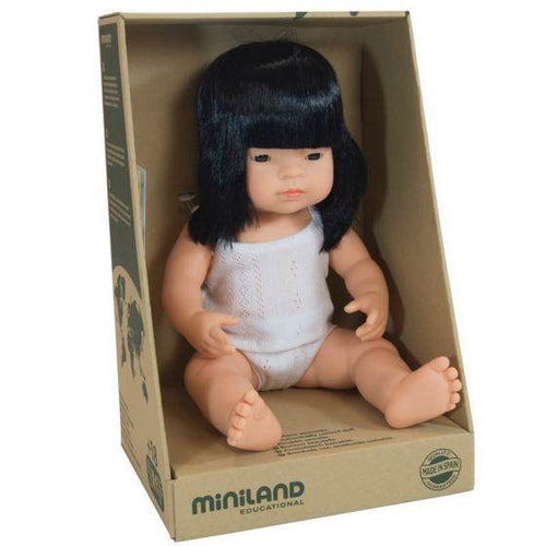 Miniland Baby Doll Asian Girl - 38cm-Jack & Willow