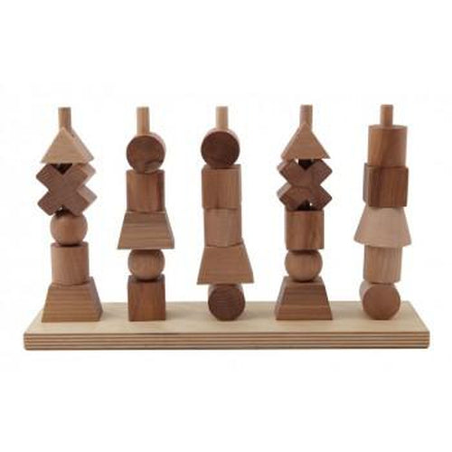 Wooden Story Natural Shapes Stacking Toy-Jack & Willow