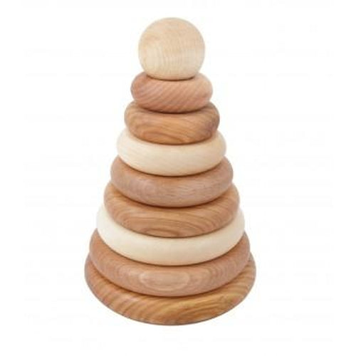 Wooden Story Natural Round Stacker-Jack & Willow
