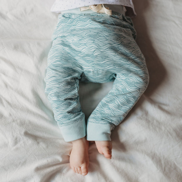 The Rest Organic Drawstring Pants - Ocean