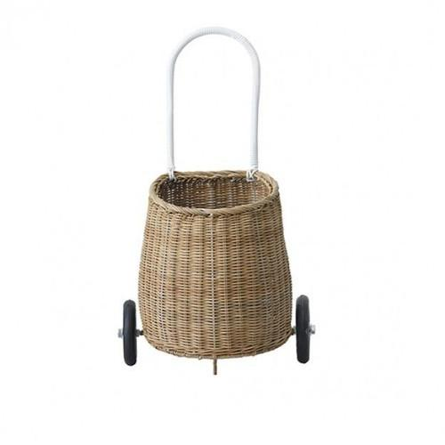 Olli Ella Luggy Basket - Natural / White (AUGUST PRE-ORDER)