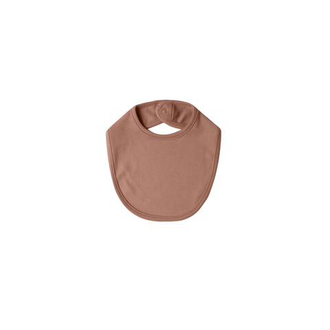 Quincy Mae Snap Bib - Clay