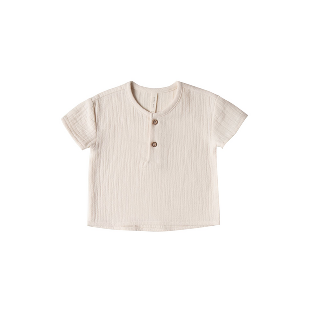 Quincy Mae Henry Short Sleeve Tee - Pebble