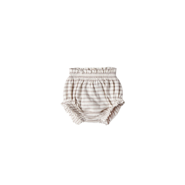 Quincy Mae Gathered Bloomers - Fog Stripe