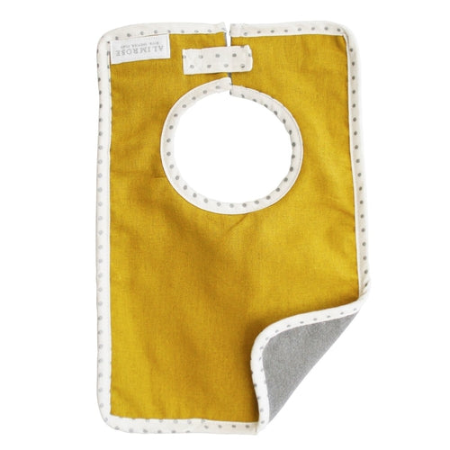 Alimrose Bobby Linen Bib - Butterscotch-Jack & Willow