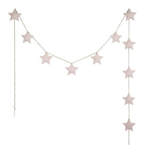 Numero 74 Mini Star Garland - Powder Pink-Jack & Willow