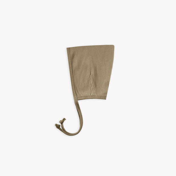 Quincy Mae Ribbed Pixie Bonnet - Olive