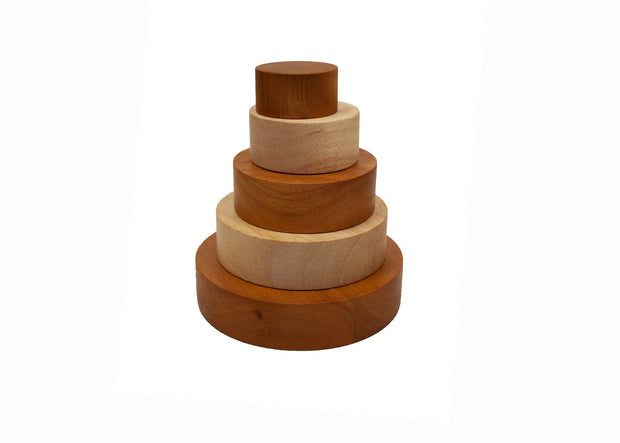 QToys 2 Tone Natural Stacking Bowls