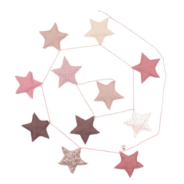 Numero 74 Mini Star Garland - Mixed Pink