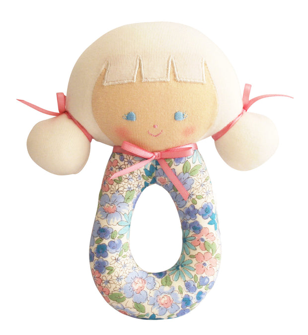 Alimrose Audrey Grab Rattle - Liberty Blue