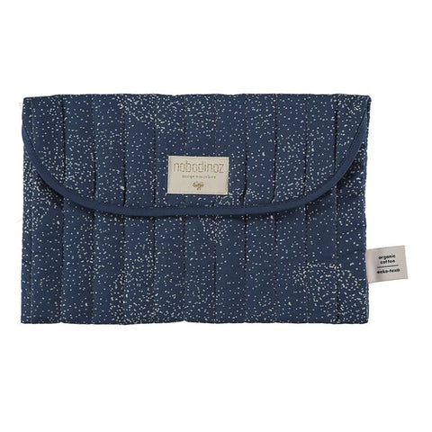 Nobodinoz Travel Nappy Pouch - Bagatelle Gold Stellar / Night Blue-Jack & Willow