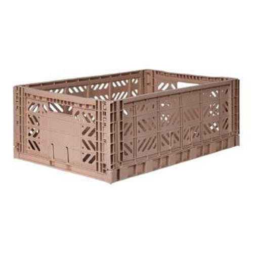 Ay-Kasa Maxi Storage Crate - Warm Taupe (MARCH PRE-ORDER)-Jack & Willow