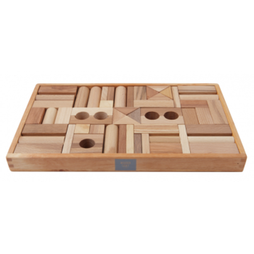Wooden Story Blocks - Natural 54 pcs