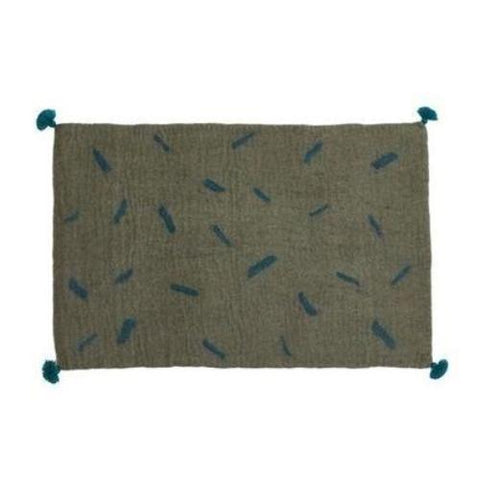 Muskhane Tikka Rug - Mineral Grey / Duck Blue-Jack & Willow