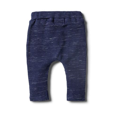 Wilson & Frenchy Waffle Slouch Pants - Twilight Blue