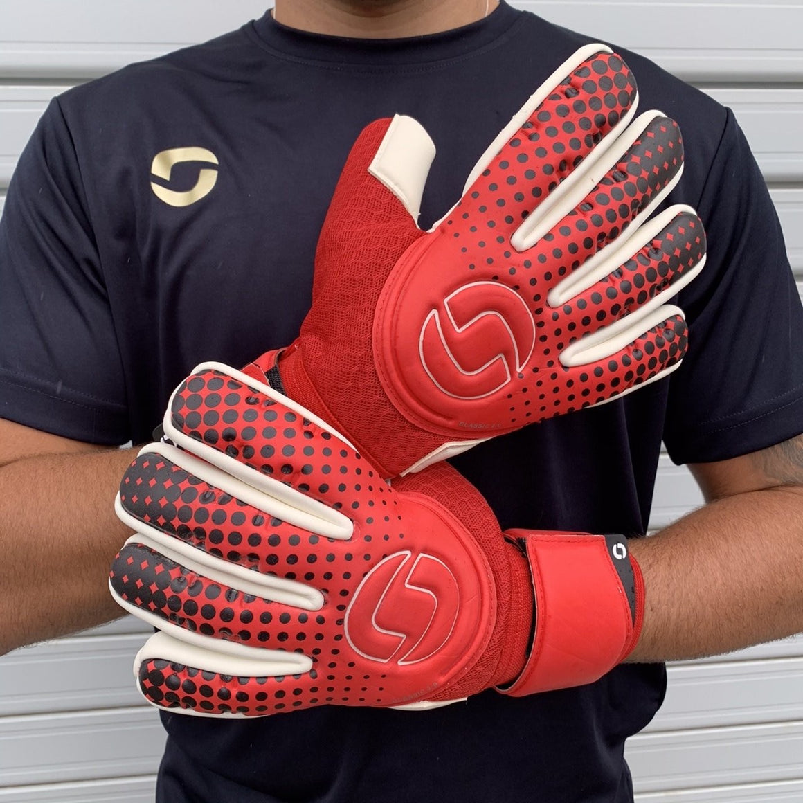 Onesport Classic 2.0 Negative Goalkeeper Gloves Red / White